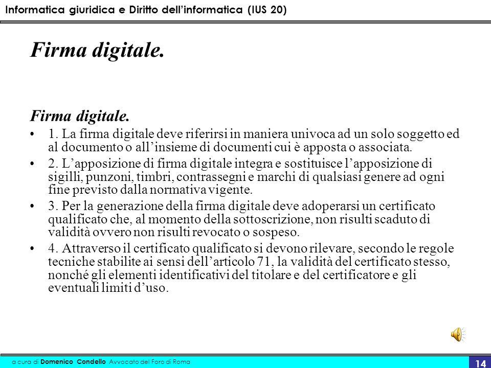 Firma digitale. Firma digitale.