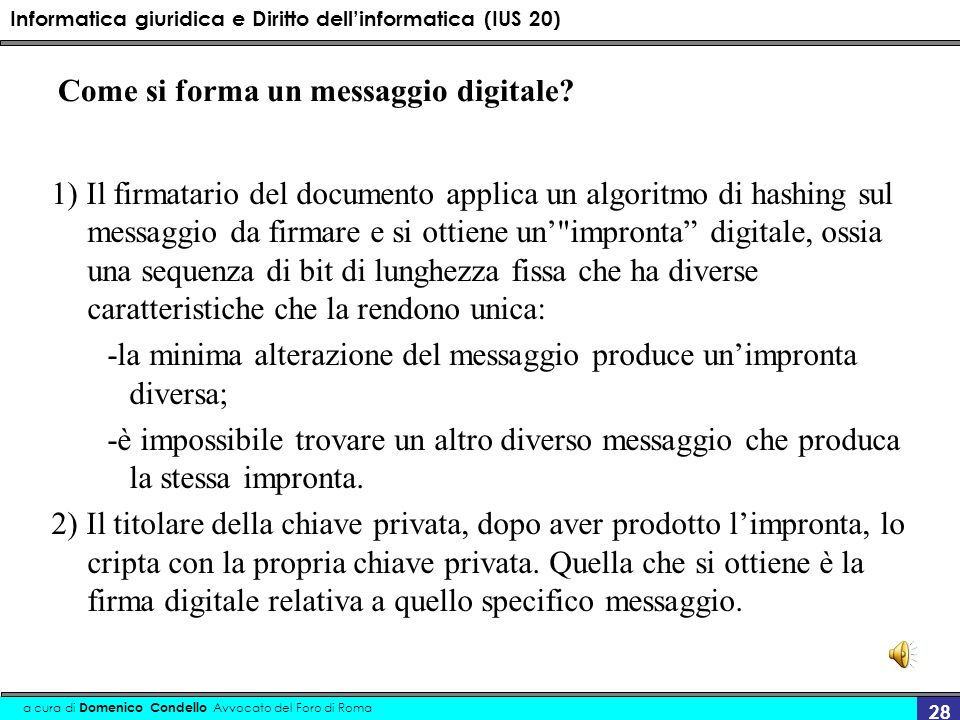 Come si forma un messaggio digitale