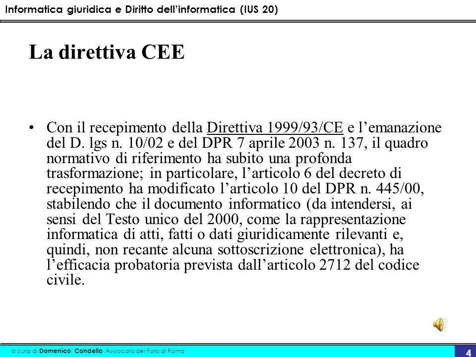 La direttiva CEE
