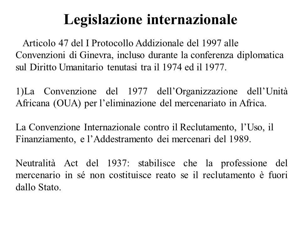 Legislazione internazionale