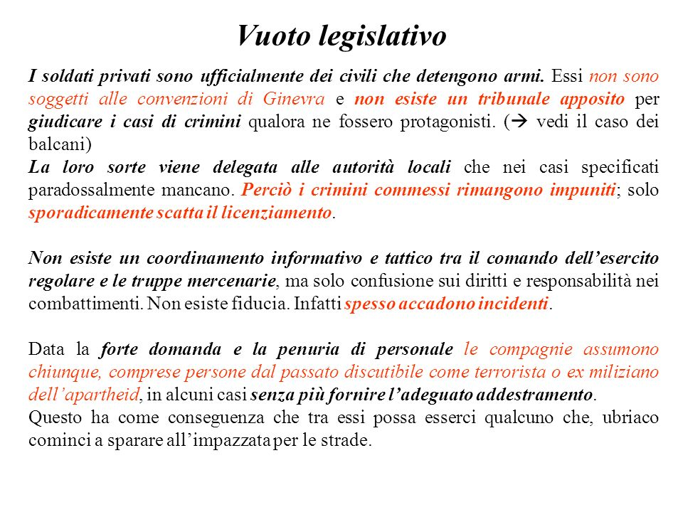Vuoto legislativo