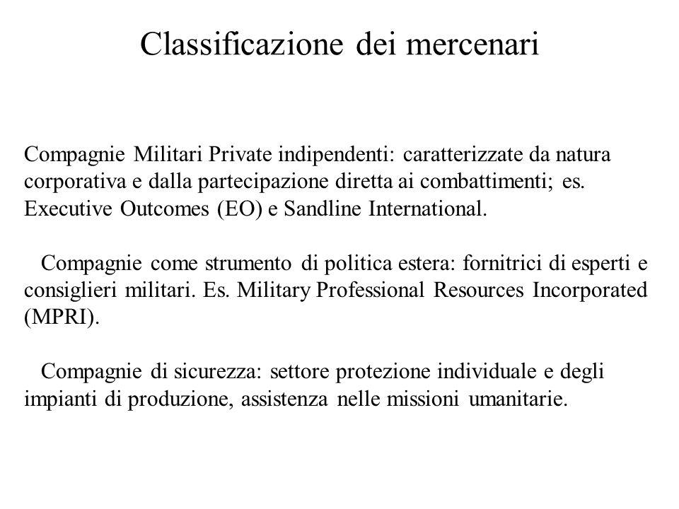 Classificazione dei mercenari