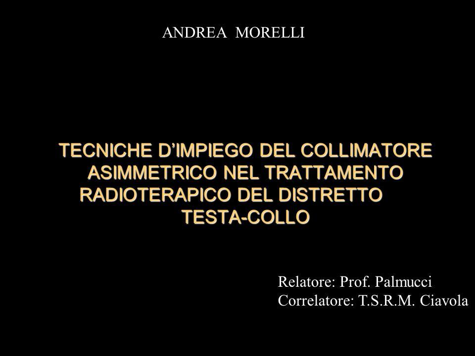 ANDREA MORELLI TECNICHE D'IMPIEGO DEL COLLIMATORE ASIMMETRICO NEL TRATTAMENTO RADIOTERAPICO DEL DISTRETTO TESTA-COLLO.