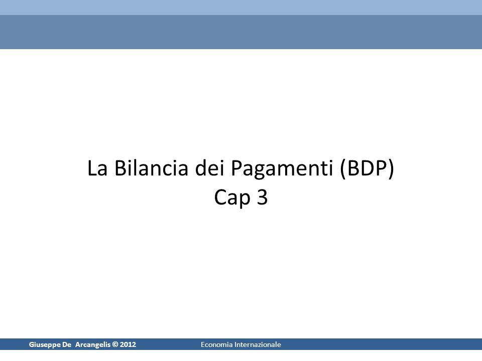 La Bilancia dei Pagamenti (BDP) Cap 3