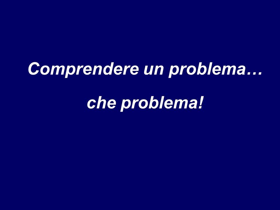 Comprendere un problema…