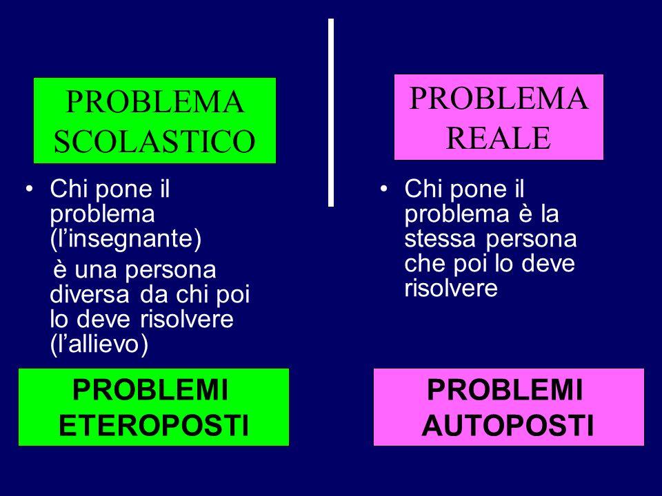 PROBLEMA PROBLEMA REALE SCOLASTICO PROBLEMI ETEROPOSTI PROBLEMI