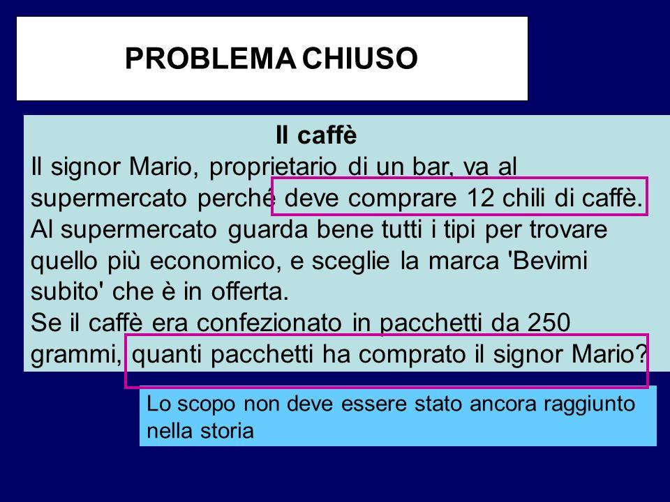PROBLEMA CHIUSO Il caffè