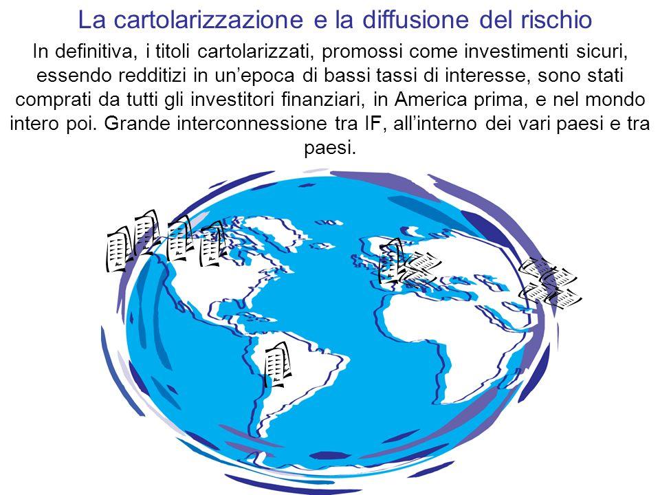 La cartolarizzazione e la diffusione del rischio