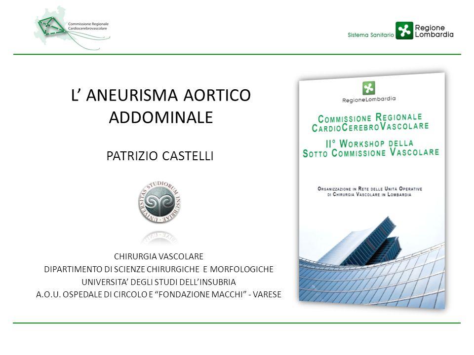 L' ANEURISMA AORTICO ADDOMINALE PATRIZIO CASTELLI CHIRURGIA VASCOLARE