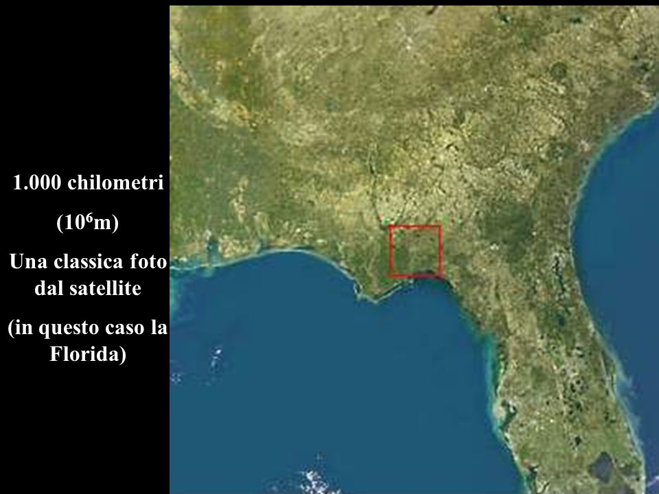 Una classica foto dal satellite (in questo caso la Florida)