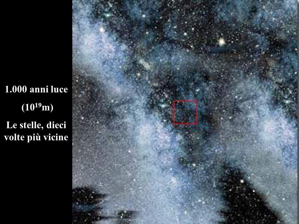 Le stelle, dieci volte più vicine