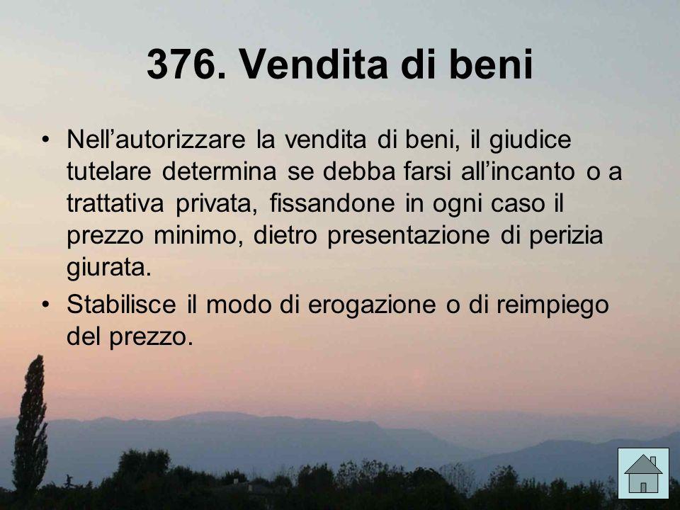 376. Vendita di beni