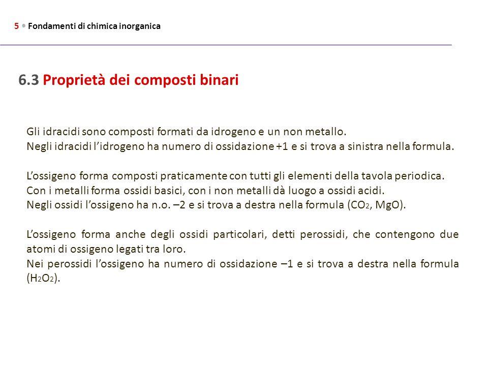 6.3 Proprietà dei composti binari