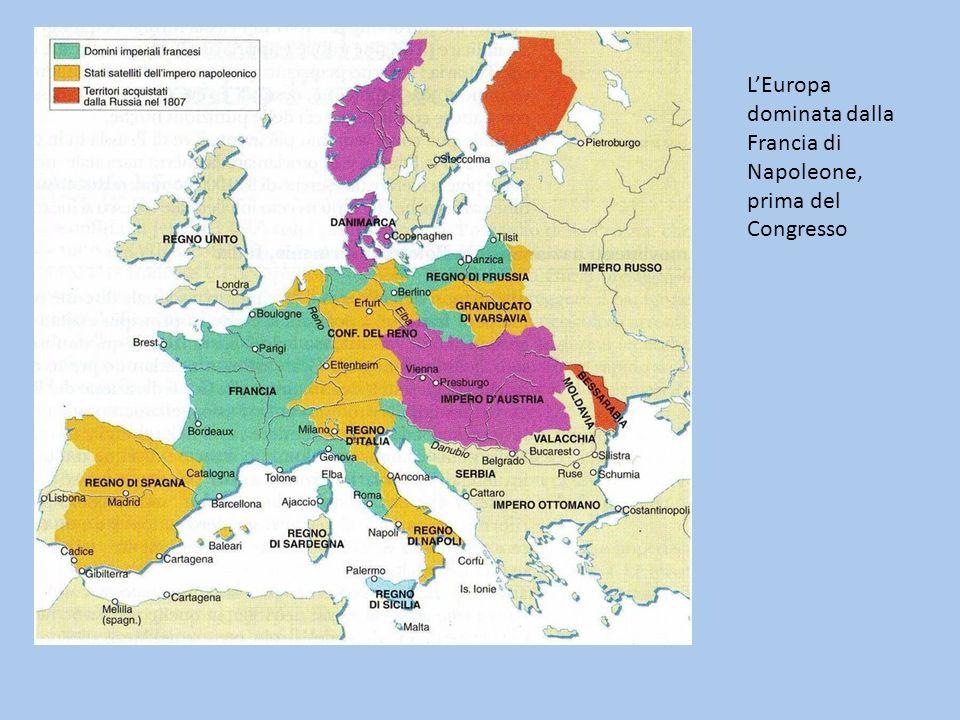 L'Europa dominata dalla Francia di Napoleone, prima del Congresso