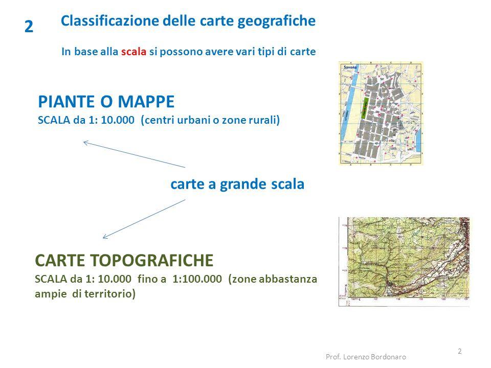 Classificazione delle carte geografiche