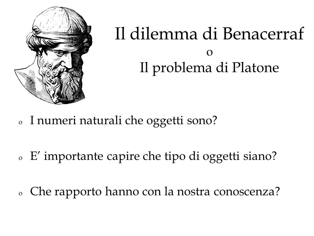 Il dilemma di Benacerraf o Il problema di Platone