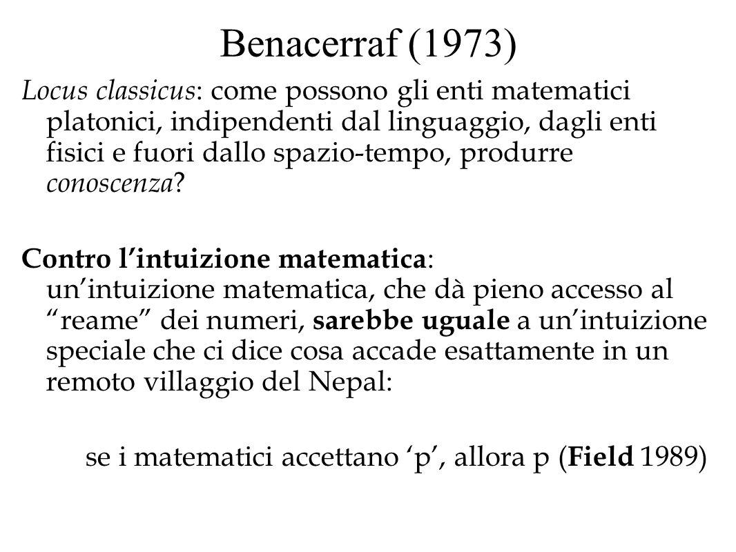 Benacerraf (1973)
