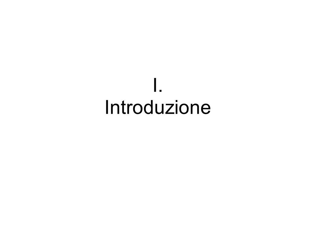 I. Introduzione