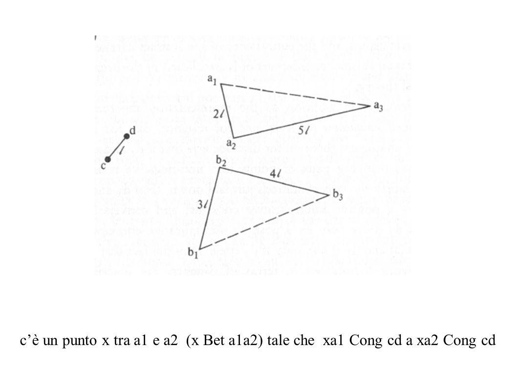 c'è un punto x tra a1 e a2 (x Bet a1a2) tale che xa1 Cong cd a xa2 Cong cd