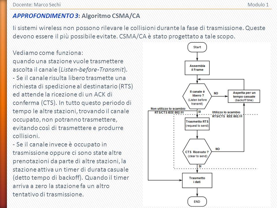 APPROFONDIMENTO 3: Algoritmo CSMA/CA