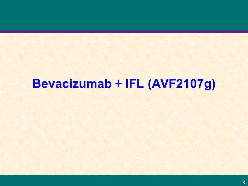 Bevacizumab + IFL (AVF2107g)