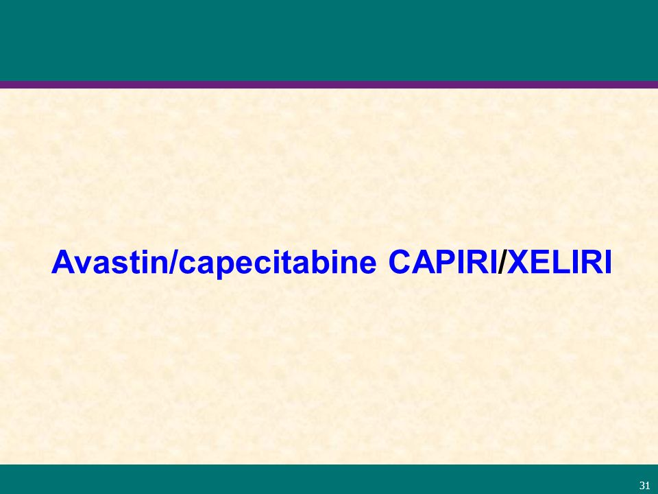 Avastin/capecitabine CAPIRI/XELIRI
