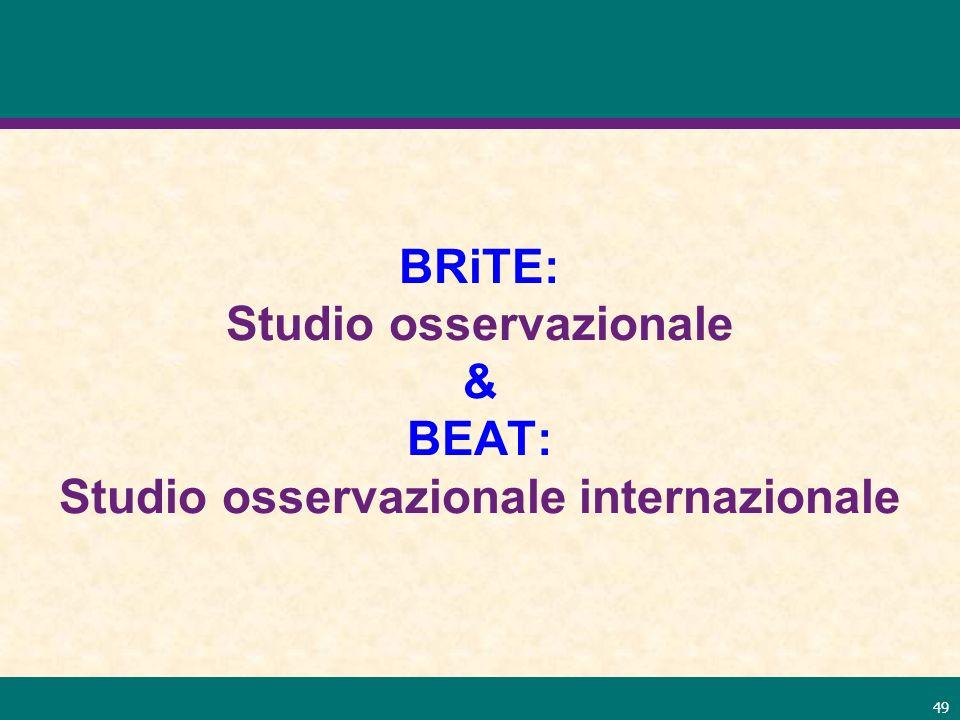 BRiTE: Studio osservazionale & BEAT: Studio osservazionale internazionale