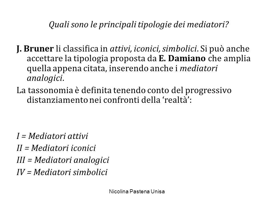 III = Mediatori analogici IV = Mediatori simbolici