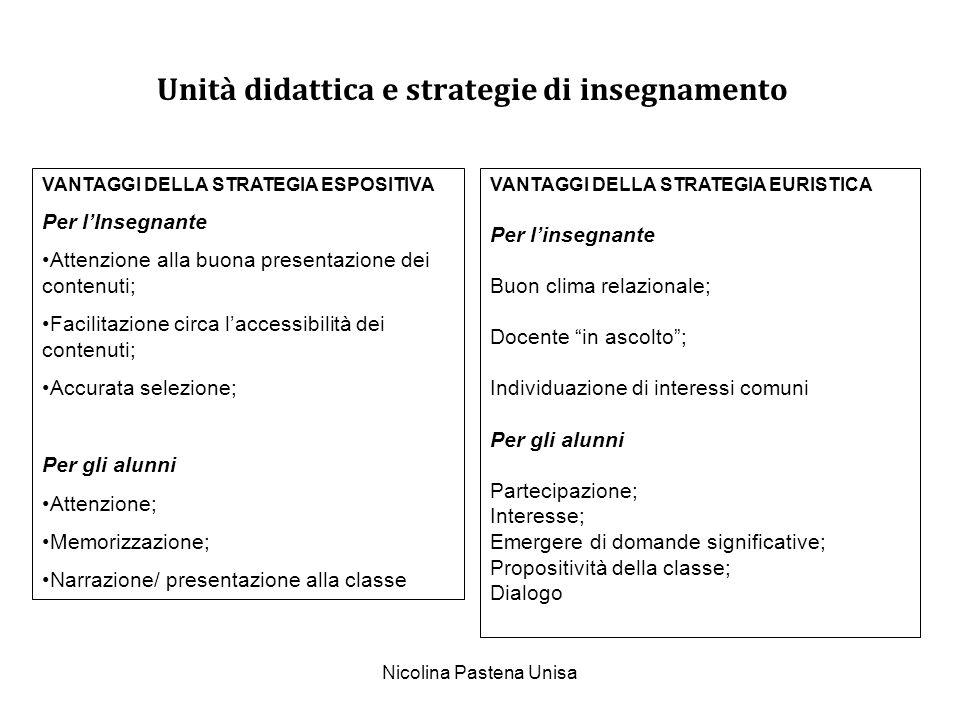 Unità didattica e strategie di insegnamento