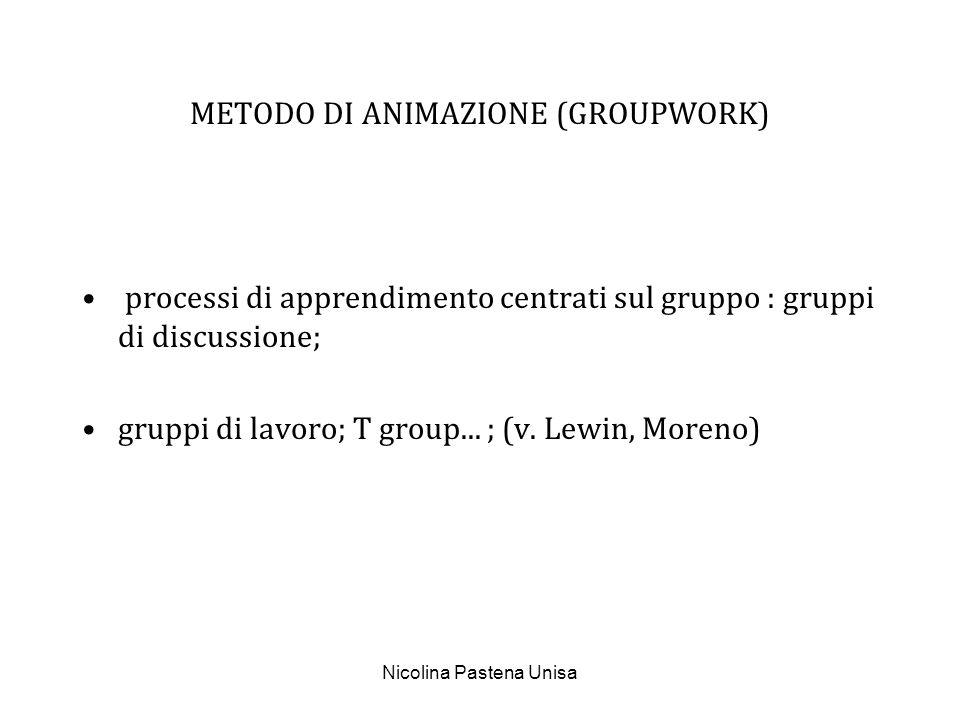 METODO DI ANIMAZIONE (GROUPWORK)
