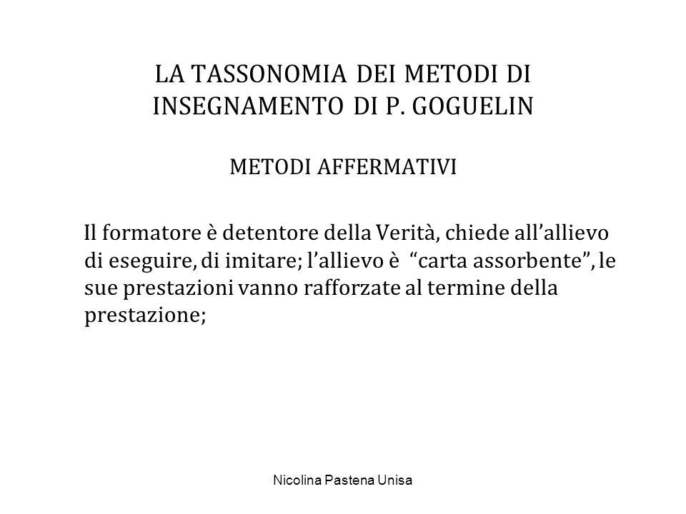 LA TASSONOMIA DEI METODI DI INSEGNAMENTO DI P. GOGUELIN