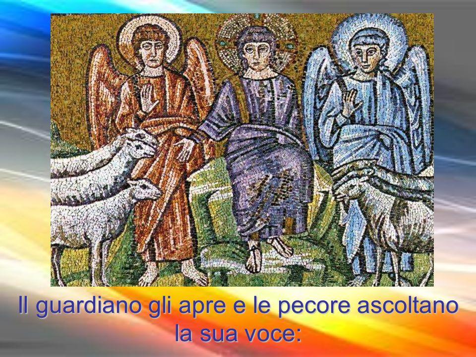 Il guardiano gli apre e le pecore ascoltano la sua voce:
