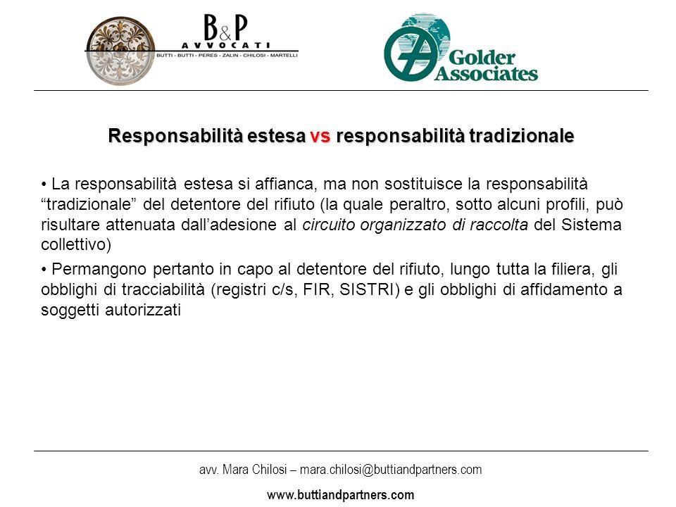 Responsabilità estesa vs responsabilità tradizionale