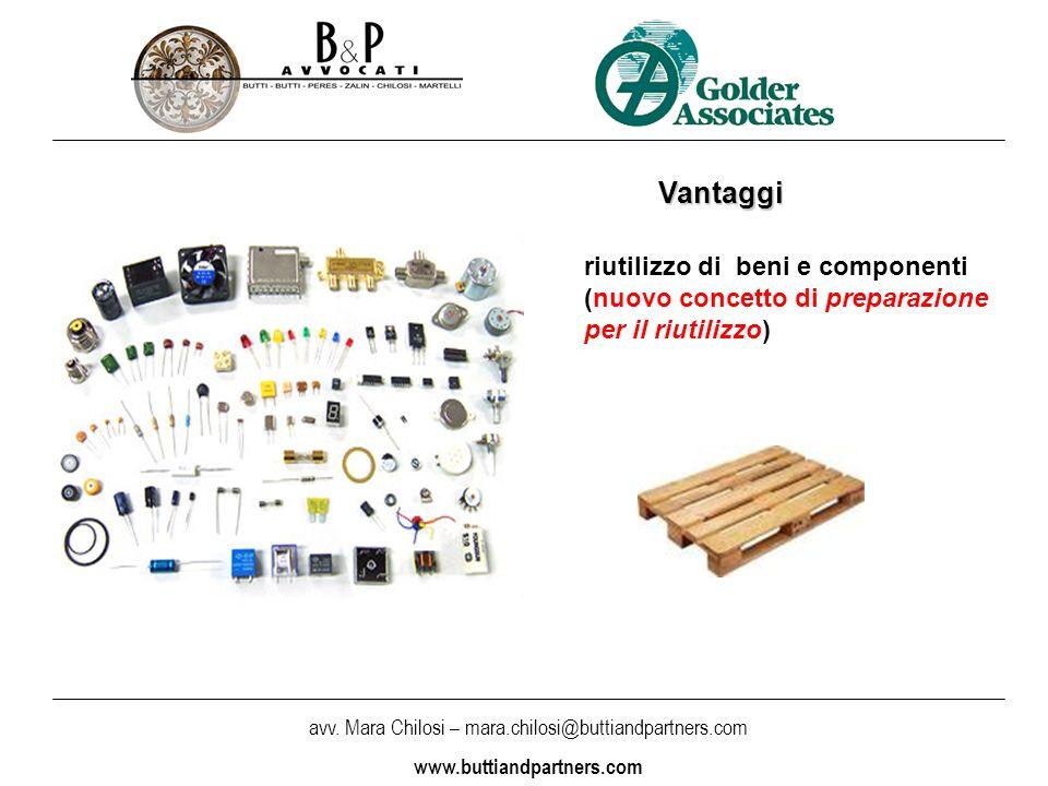 Vantaggi riutilizzo di beni e componenti (nuovo concetto di preparazione per il riutilizzo)