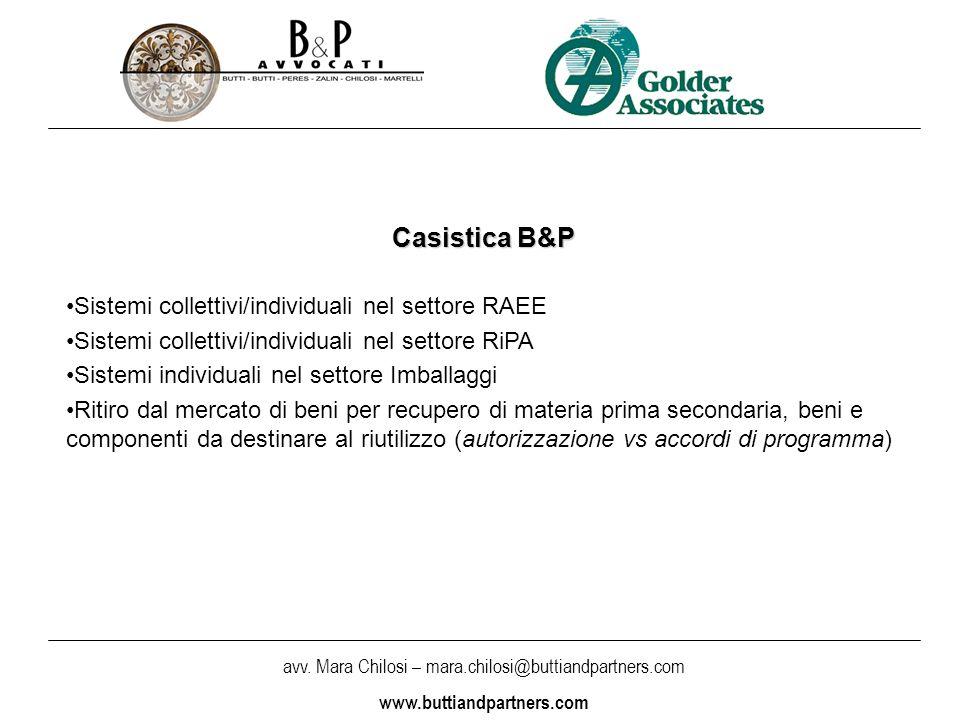 Casistica B&P Sistemi collettivi/individuali nel settore RAEE