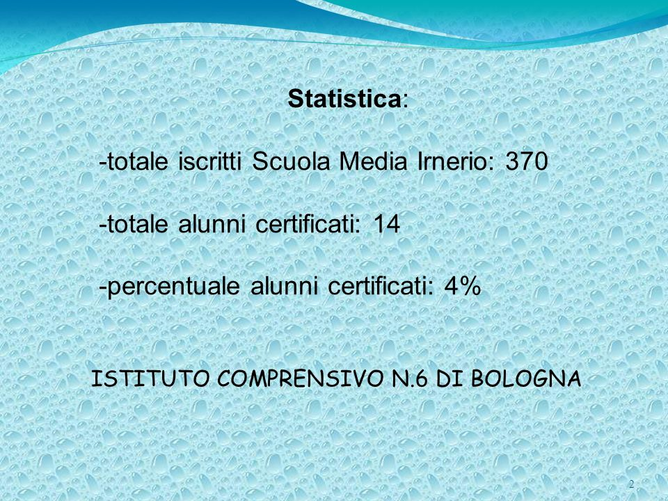 ISTITUTO COMPRENSIVO N.6 DI BOLOGNA