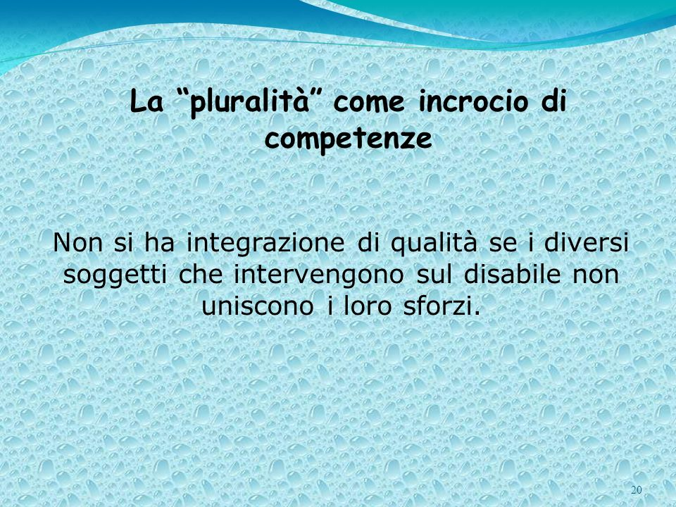 La pluralità come incrocio di competenze