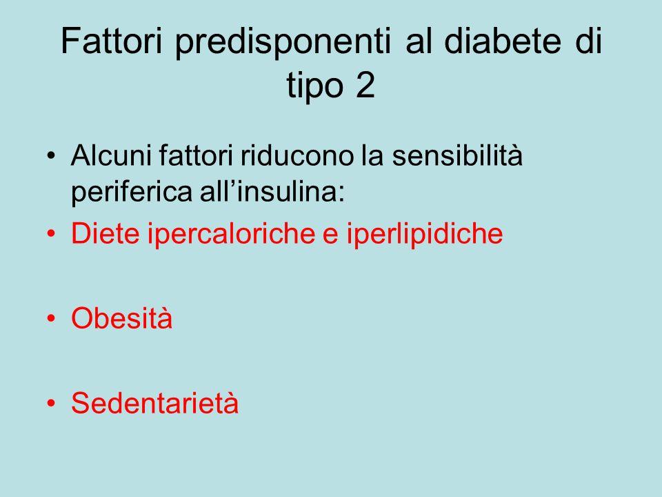 Fattori predisponenti al diabete di tipo 2