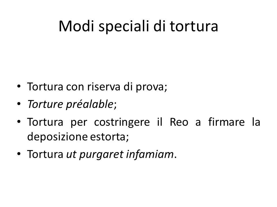 Modi speciali di tortura