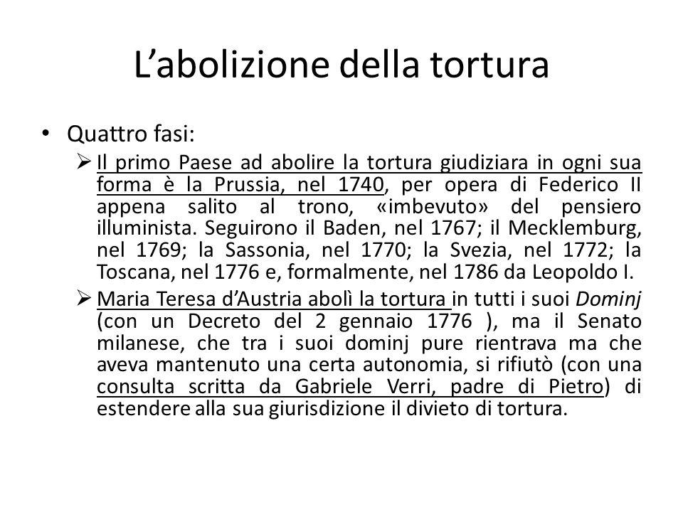 L'abolizione della tortura