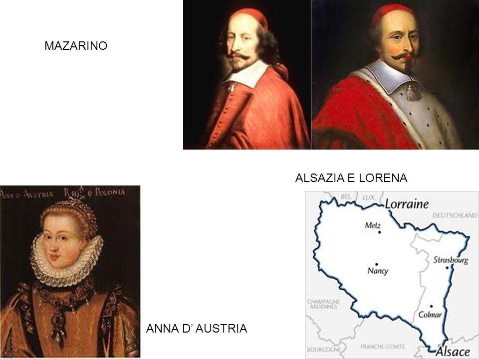 MAZARINO ALSAZIA E LORENA ANNA D' AUSTRIA