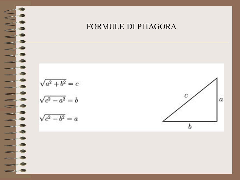 FORMULE DI PITAGORA