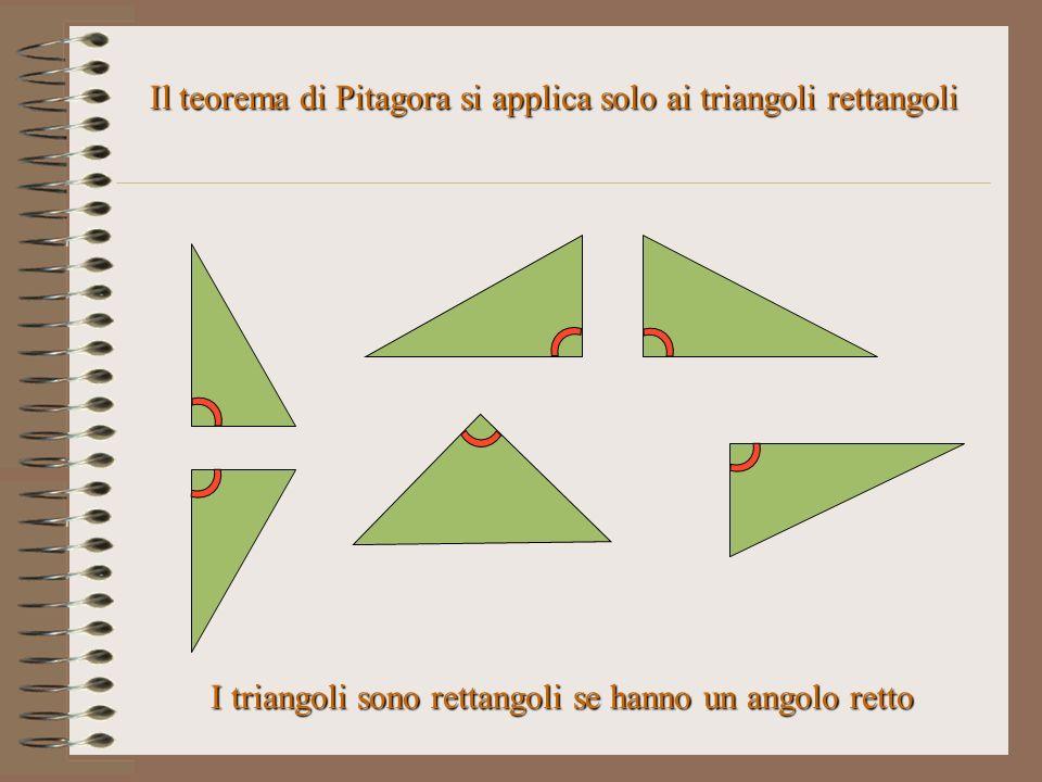Il teorema di Pitagora si applica solo ai triangoli rettangoli