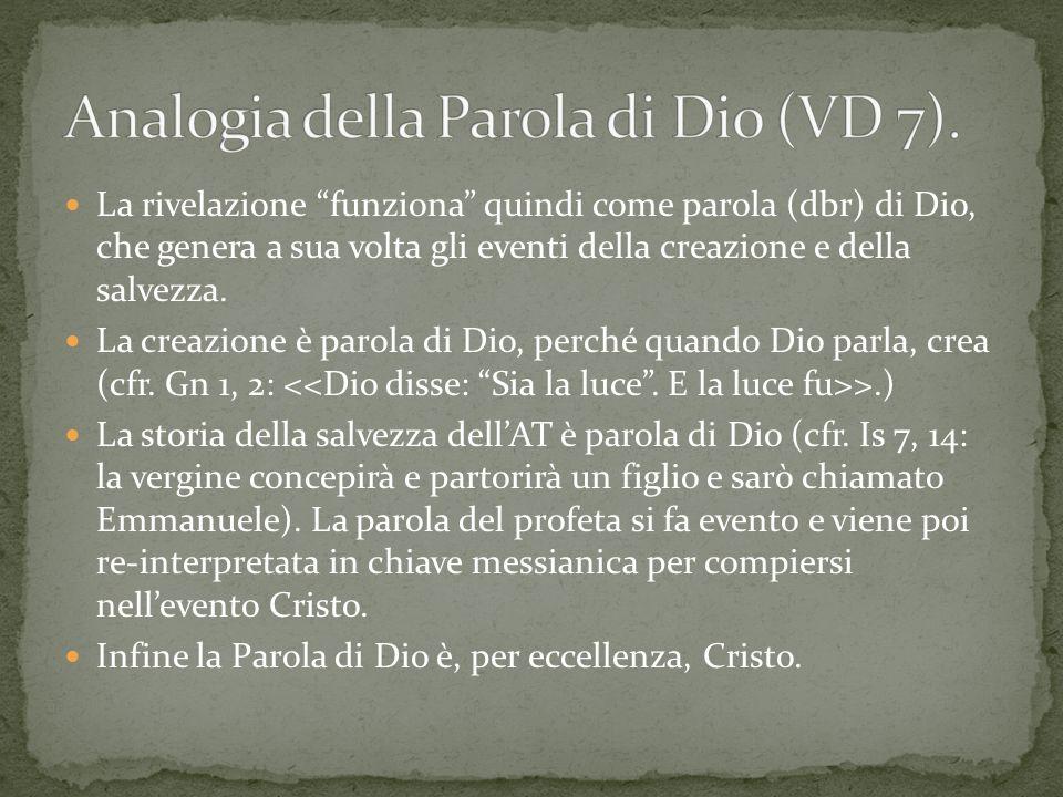 Analogia della Parola di Dio (VD 7).