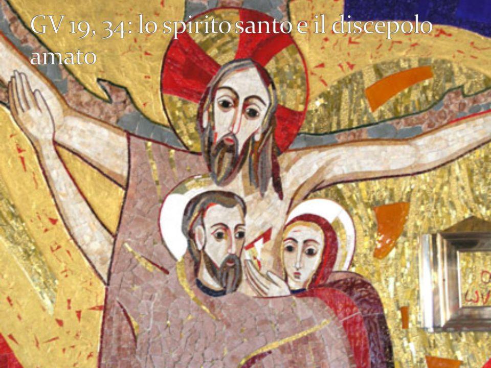GV 19, 34: lo spirito santo e il discepolo amato