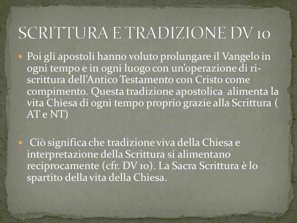 SCRITTURA E TRADIZIONE DV 10