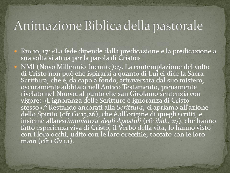 Animazione Biblica della pastorale