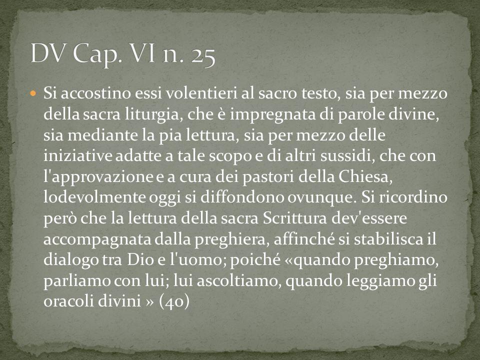 DV Cap. VI n. 25