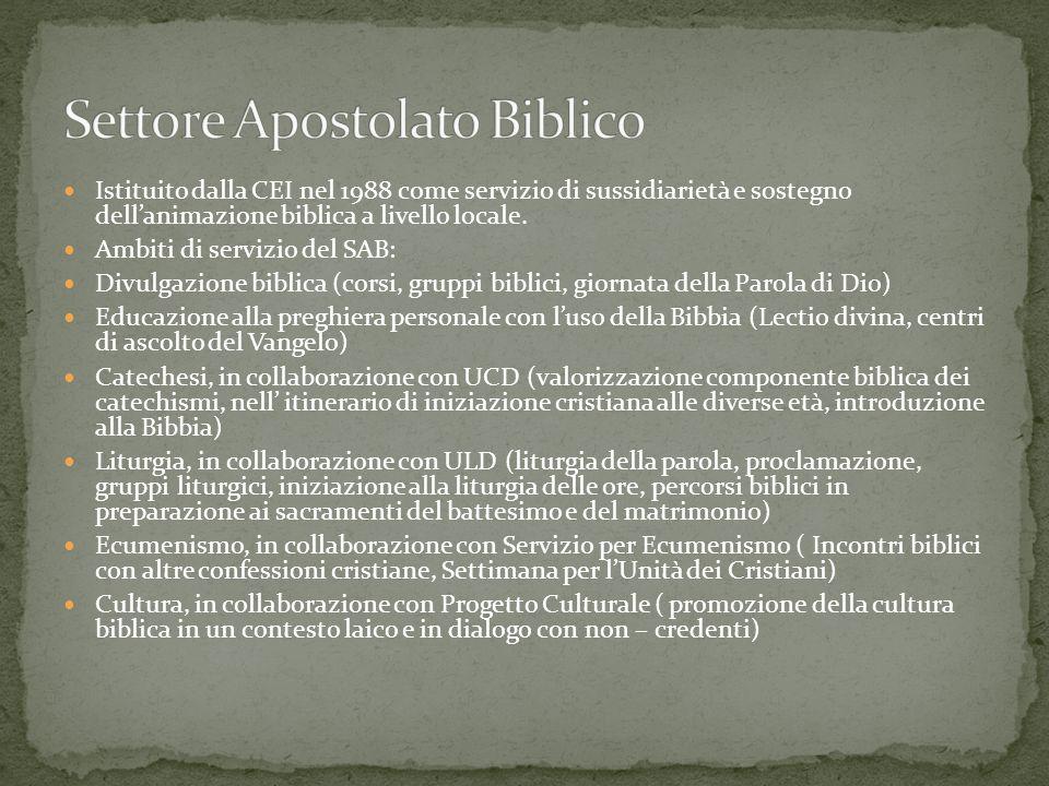 Se Settore Apostolato Biblico