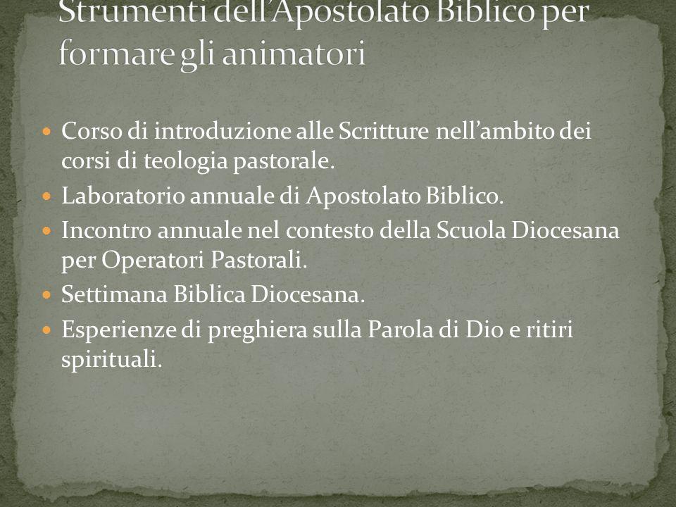 Strumenti dell'Apostolato Biblico per formare gli animatori